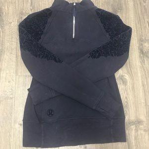 lululemon athletica Tops - Lululemon high neck sweatshirt w/ floral detail
